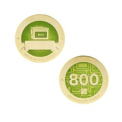 Milestone Geocoin + Tag Set (2 Trackables) - 800 Finds