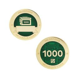 Milestone Geocoin + Tag Set (2 Trackables) - 1.000 Finds