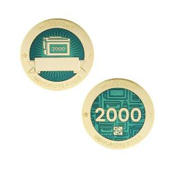 Milestone Geocoin + Tag Set (2 Trackables) - 2.000 Finds