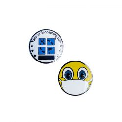 Emoji mit Maske Micro Geocoin