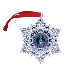 Snowflake Ornament Geocoin - Signal the Frog® Kranz