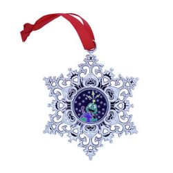 Snowflake Ornament Geocoin - Signal the Frog® Erde