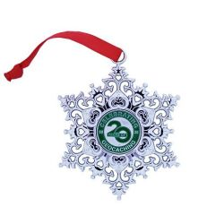 Snowflake Ornament Geocoin - 20 Jahre Geocaching