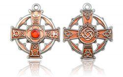 Raith Gras Geocoin Antik Kupfer / Silber - Rot