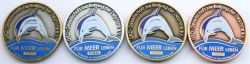 Save the Dolphins Geocoin Sammler Set (4 Coins) (CHARITY)