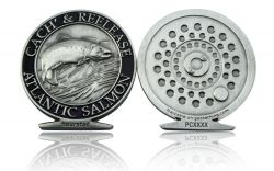 Cach & Reelease Geocoin Antik Silber