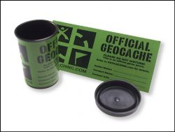 5 pcs. Small Groundspeak Cache Sticker -english-