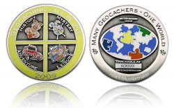 Geocaching - All In One GC 2009 Antik Silber -MIT GRAVUR-