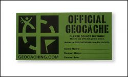 2 pcs Groundspeak Large Cache Sticker -english-