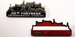 Salzburg Geo Fortress 2009 Geocoin Black Nickel (LE)