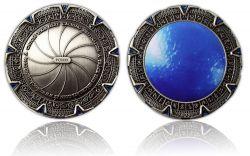 SpaceGate Geocoin Antik Silber