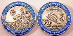 40 Years Man On The Moon -MOON- Antik Silber