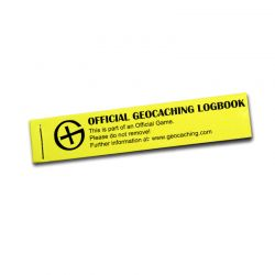 Geocaching PET Logbook Yellow 100 (1 Pc)