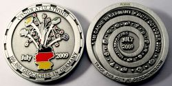100.000 Caches Germany Geocoin Antik Silber