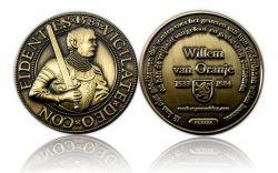 Willem van Oranje Geocoin Antik Gold