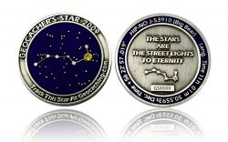 Geocacher's Star 2009 Antik Silber