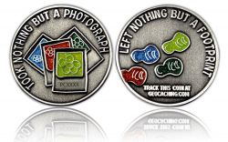 Save the Nature Geocoin Antik Silber