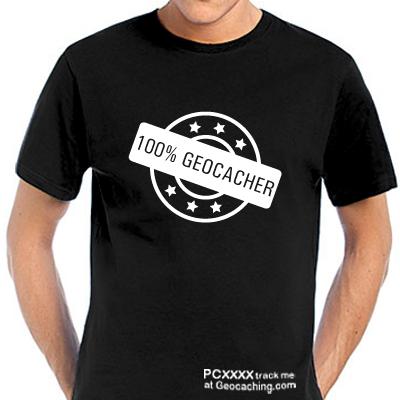 Geocaching T-Shirt | 100% Geocacher