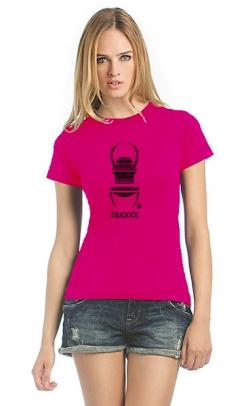 Cacher-Travelbug-T-Shirt Damen pink