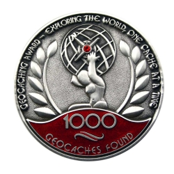 Award Geocoin - 1000 Finds
