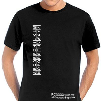 Geocaching ROT13 T-Shirt trackbar