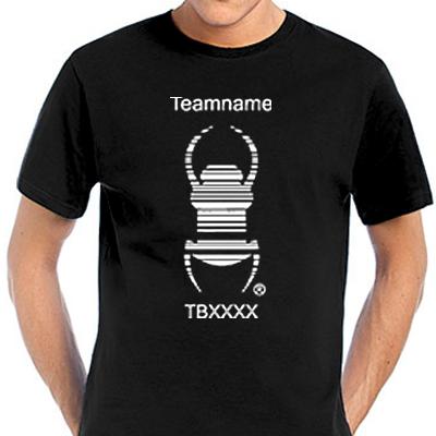 Travelbug T-Shirt mit deinem Teamnamen