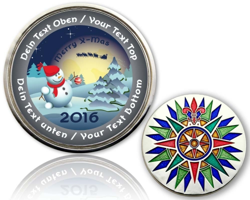 Christmas 2015 Geocoin Snowman COOL