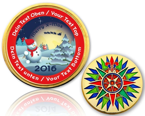 Christmas 2015 Geocoin Snowman LOVE