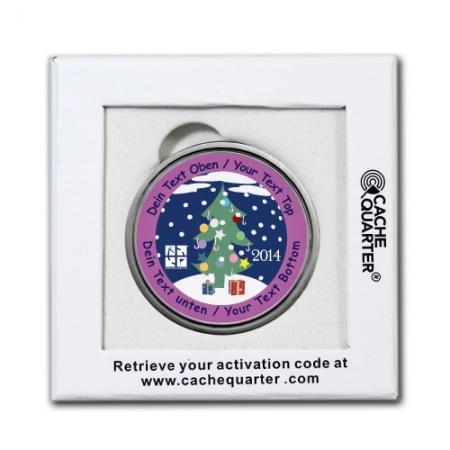 Weihnachten - 2014 - Weihnachtsbaum Geocoin