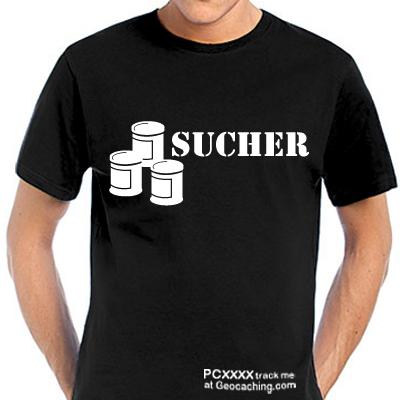 Dosensucher T-Shirt für Geocacher - trackbar