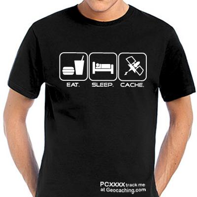Geocaching T-Shirt Eat. Sleep. Cache trackbar