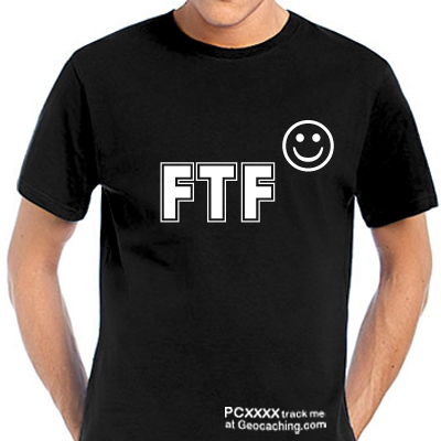 FTF Geocaching T-Shirt -hier trackbare Version-