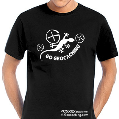 Geocaching T-Shirt Gecko Geocaching trackbar