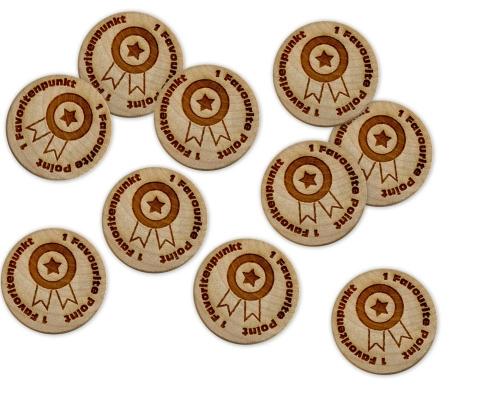 GeoTimber® Favoritenpunkte aus Holz