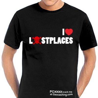 Lostplace Cacher T-Shirt -trackbare Version-