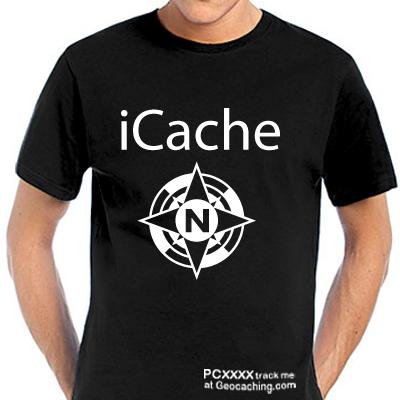 iCache Geocacher T-Shirt auch trackbar