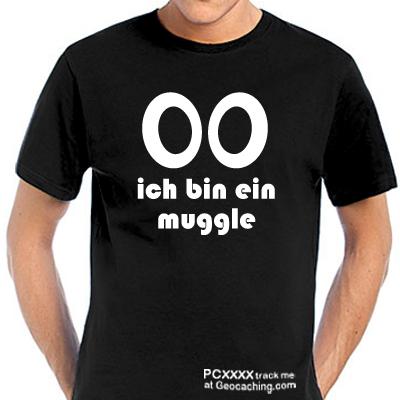 Geocaching T-Shirt Ich bin ein Muggle trackbar
