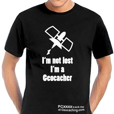 I'm not Lost Geocacher T-Shirt - trackbare Version -