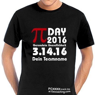 Pi-Day T-Shirt für Geocacher -trackbar-