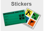 Geocaching Stickers for Geocaches and Geocacher Mobiles